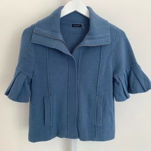 MAGASCHONI BLUE COTTON SHORT SLEEVE JACKET XS NEW